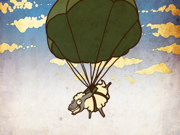 sheep parachute